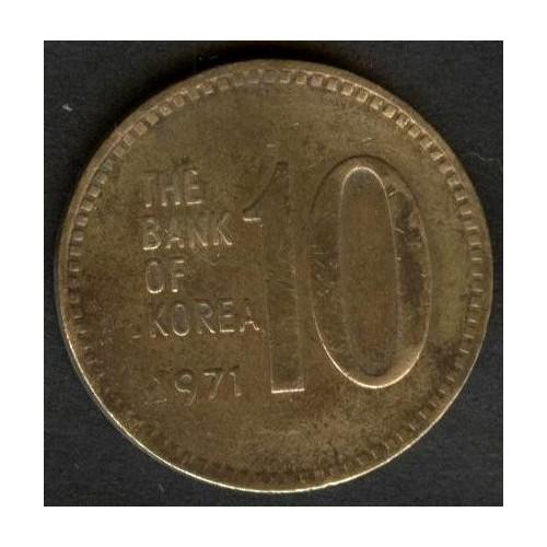 SOUTH KOREA 10 Won 1971