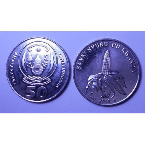 RWANDA 50 Francs 2011