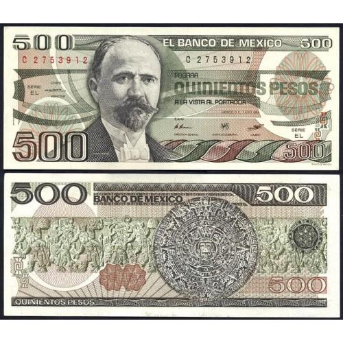 MEXICO 500 Pesos 1984
