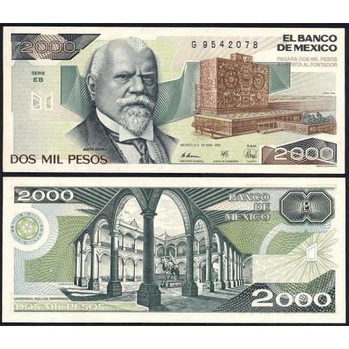 MEXICO 2000 Pesos 1989