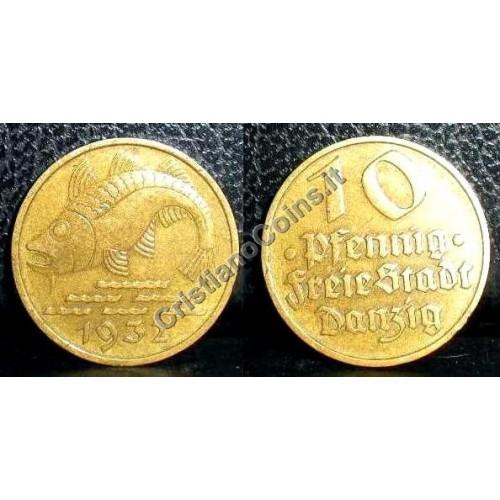 DANZIG 10 Pfennig 1932