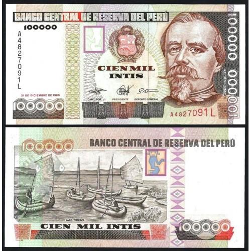 PERU 100.000 Intis 1989