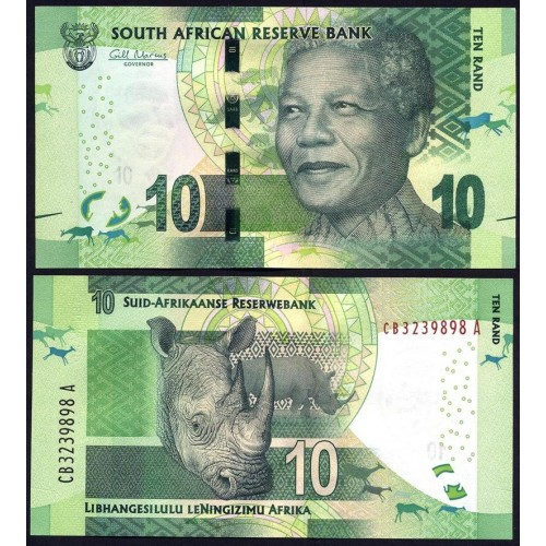 SOUTH AFRICA 10 Rand 2014