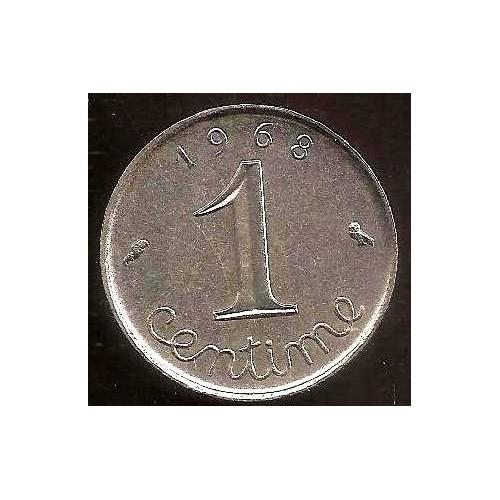 FRANCE 1 Centime 1968