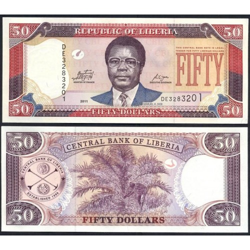 LIBERIA 50 Dollars 2011