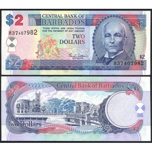 BARBADOS 2 Dollars 2000