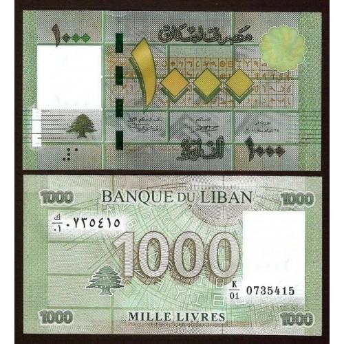 LEBANON 1000 Livres 2012