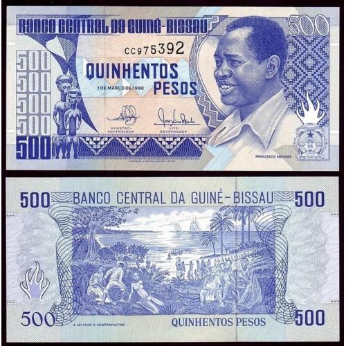 GUINEA BISSAU 500 Pesos 1990