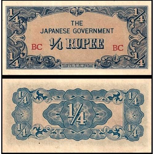 BURMA 1/4 Rupee 1942