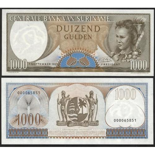 SURINAME 1000 Gulden 1963