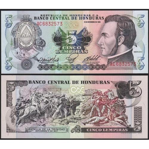 HONDURAS 5 Lempiras 1985