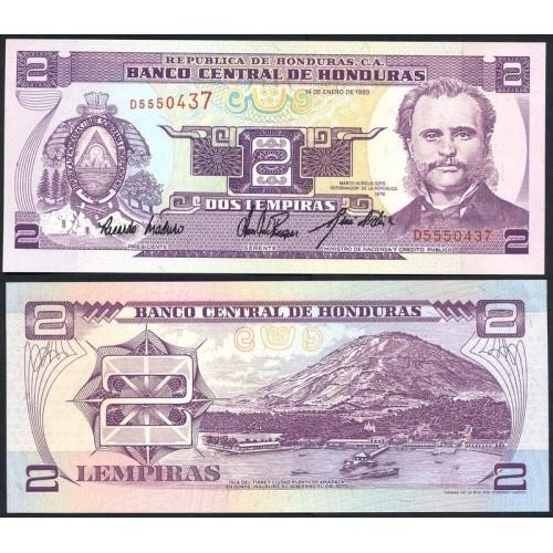 HONDURAS 2 Lempiras 1993