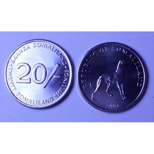 SOMALILAND 20 Shillings...