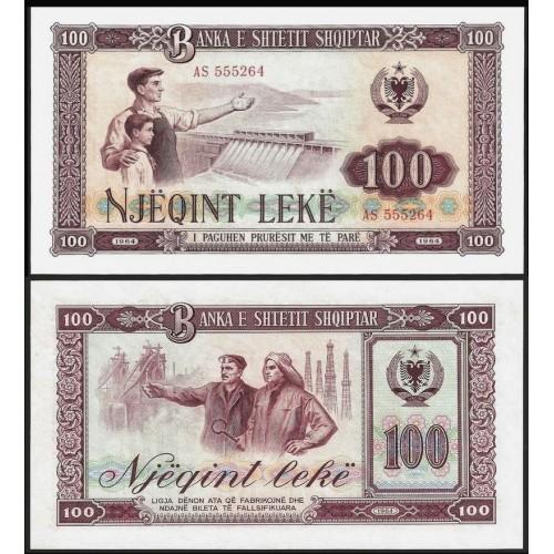 ALBANIA 100 Leke 1964