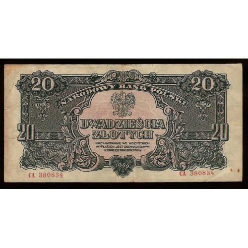 POLAND 20 Zlotych 1944