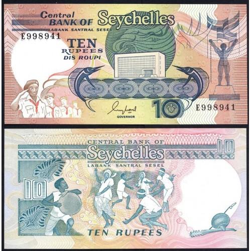 SEYCHELLES 10 Rupees 1989