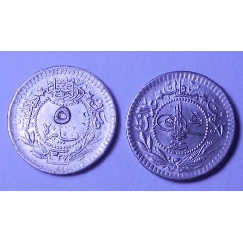 TURKEY 5 Para AH 1327/3 (1911)