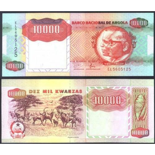 ANGOLA 10.000 Kwanzas 1991