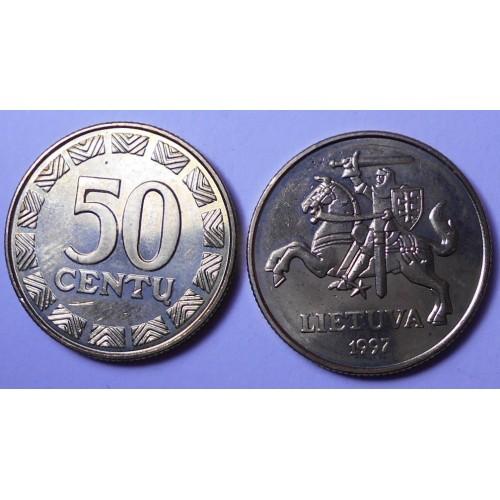 LITHUANIA 50 Centu 1997