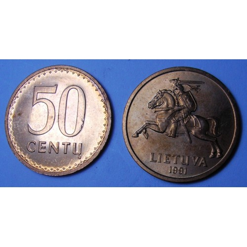 LITHUANIA 50 Centu 1991