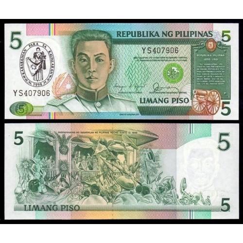 PHILIPPINES 5 Piso 1990...