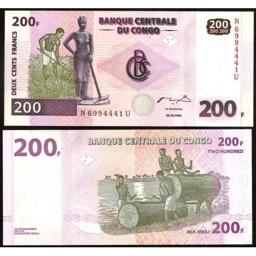 CONGO DEMOCRATIC 200 Francs...