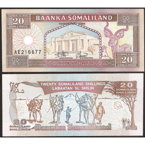 SOMALILAND 20 Shillings 1994