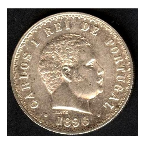 PORTUGAL 500 Reis 1896 AG...
