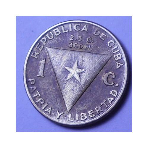 CUBA 1 Centavo 1953