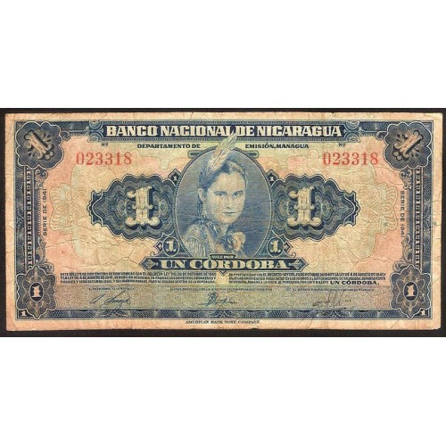 NICARAGUA 1 Cordoba 1941