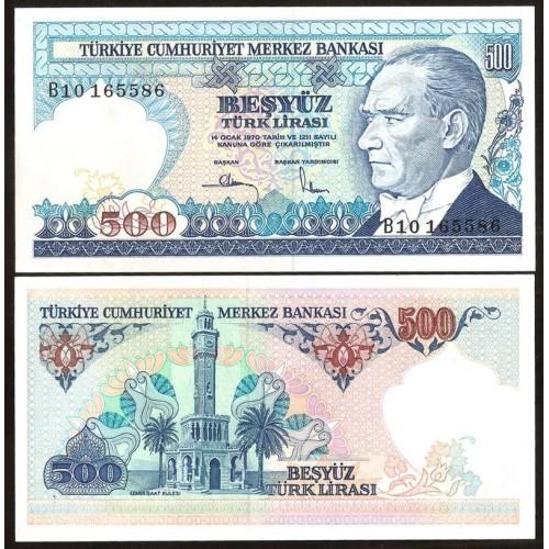 TURKEY 500 Lira L.1970 (1983)