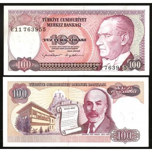 TURKEY 100 Lira 1984