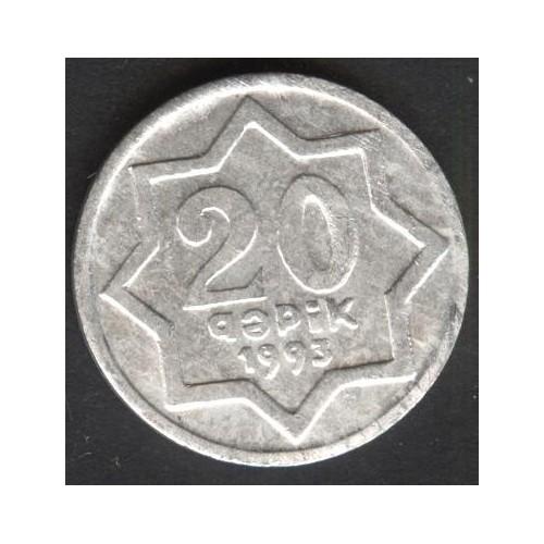 AZERBAIJAN 20 Qapik 1993
