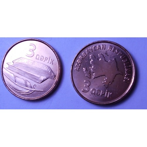 AZERBAIJAN 3 Qapik 2006