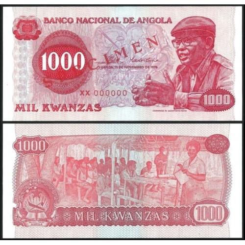 ANGOLA 1000 Kwanzas 1976...