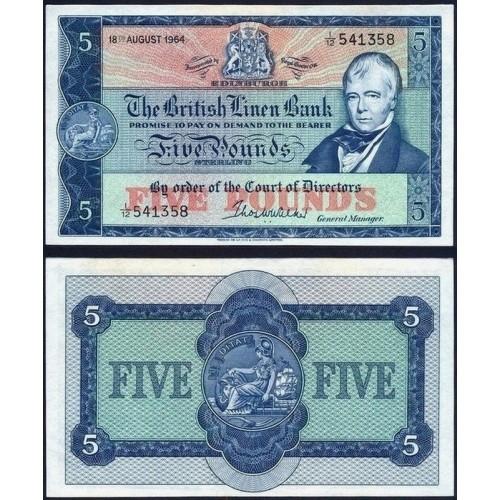 SCOTLAND 5 Pounds 18.08.1964