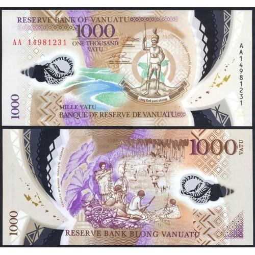 VANUATU 1000 Vatu 2014 Polymer