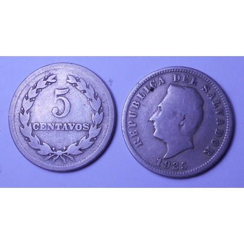 EL SALVADOR 5 Centavos 1925