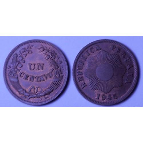 PERU 1 Centavo 1946