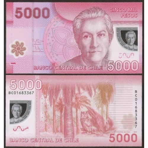 CHILE 5000 Pesos 2013 Polymer