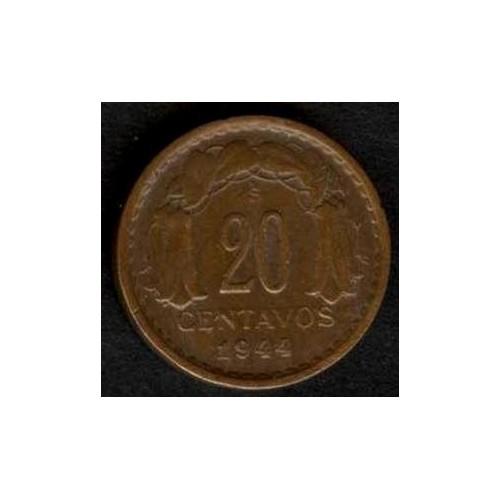 CHILE 20 Centavos 1944