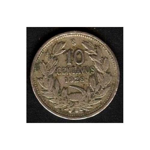 CHILE 10 Centavos 1928