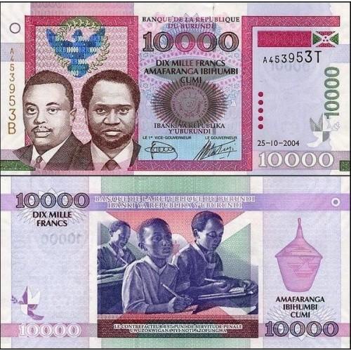 BURUNDI 10.000 Francs 2004