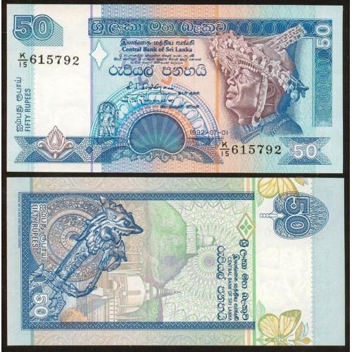 SRI LANKA 50 Rupees 1992