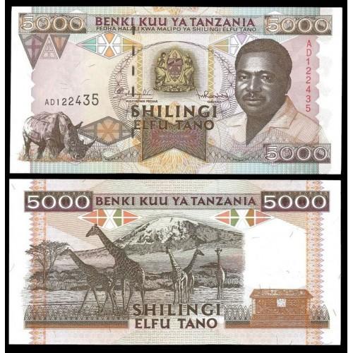 TANZANIA 5000 Shilingi 1995