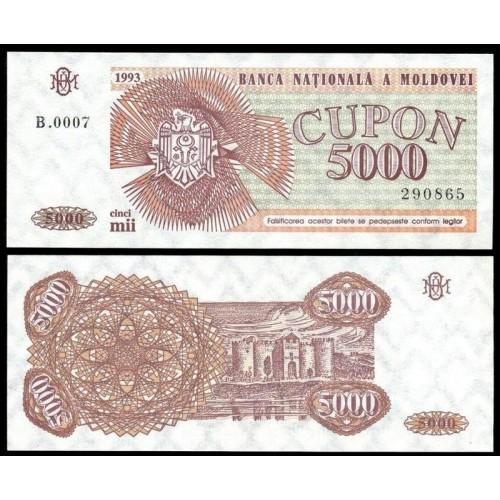 MOLDOVA 5000 Cupon 1993