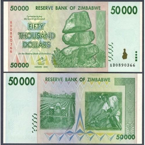 ZIMBABWE 50.000 Dollars 2008