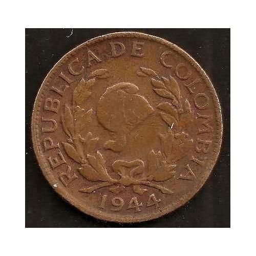COLOMBIA 5 Centavos 1944