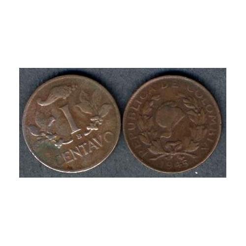COLOMBIA 1 Centavo 1945