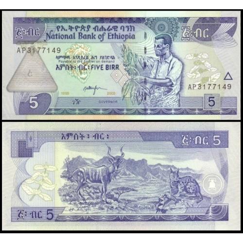 ETHIOPIA 5 Birr 2003